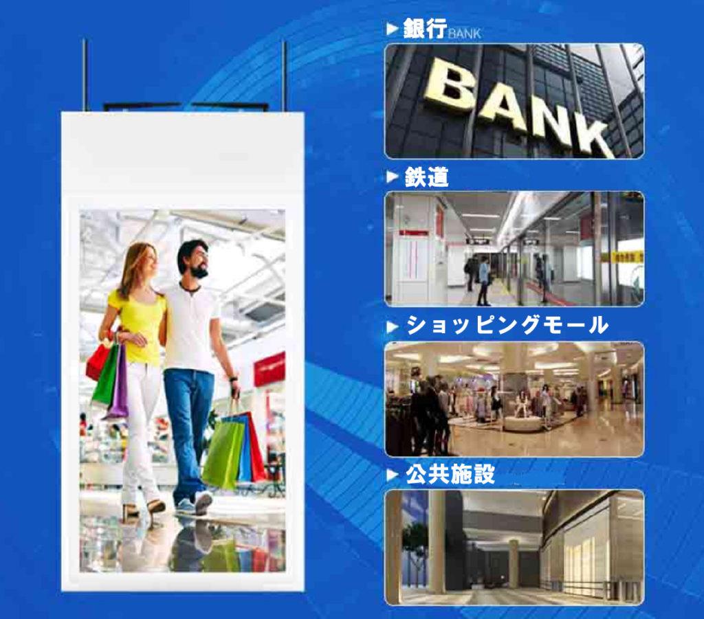 ショッピングモール 銀行など